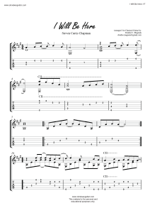 I Will Be Here Fingerstyle Tabs
