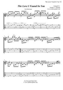 The Love I Found In You Fingerstyle Tabs