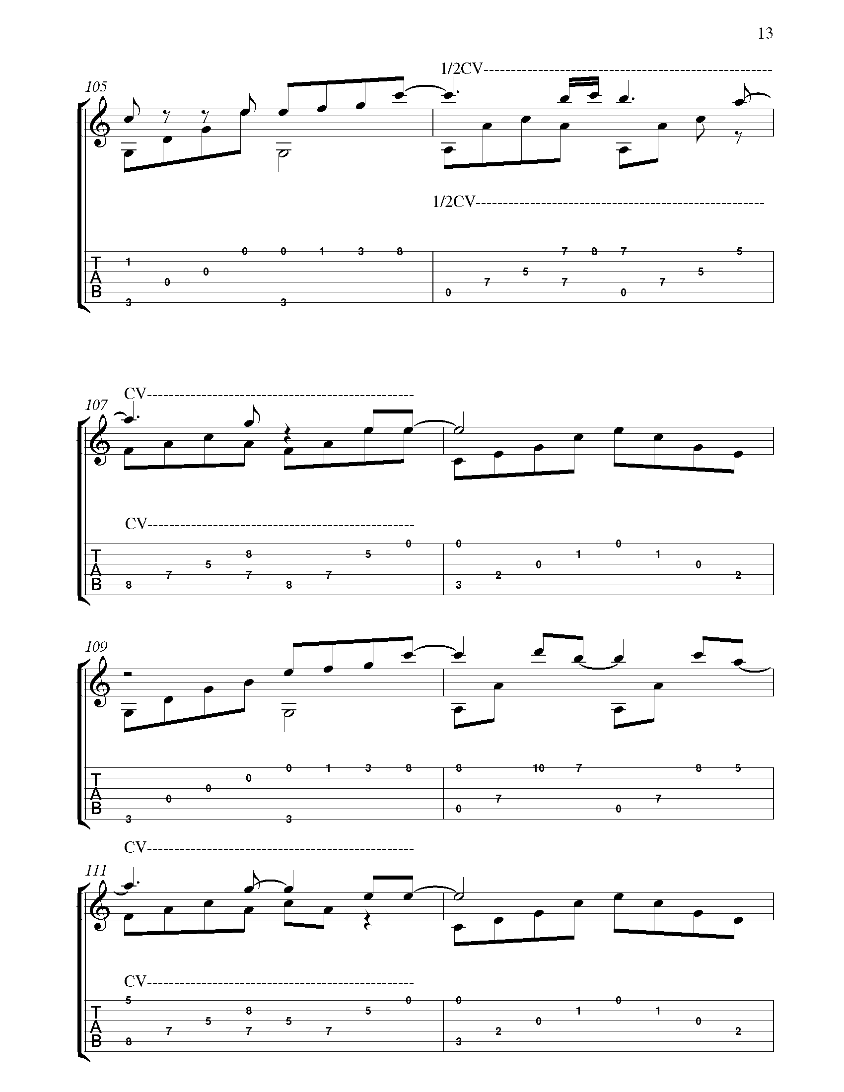 All Of Me Fingerstyle Tabs