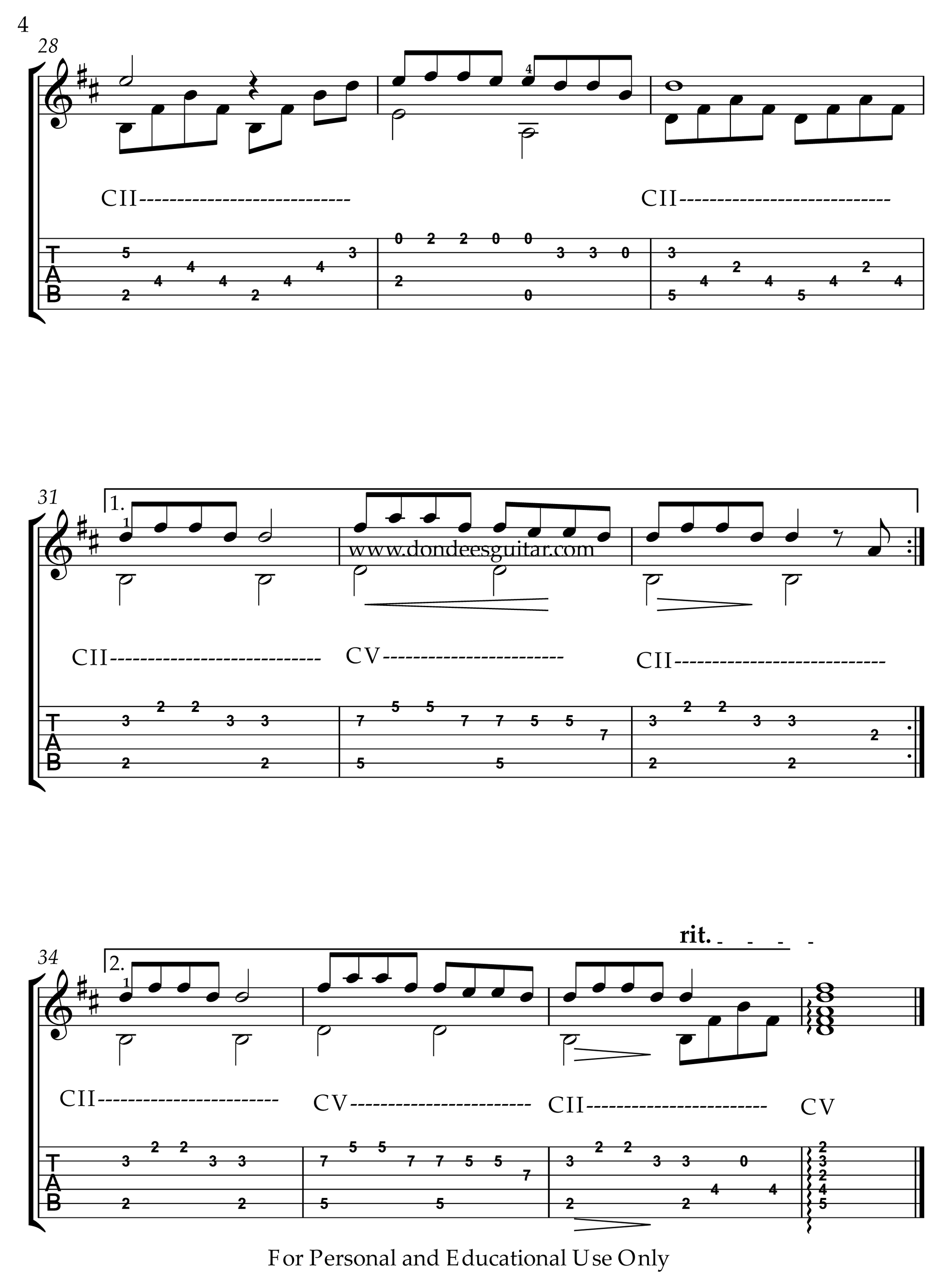 Colors Of The Wind Fingerstyle Tabs