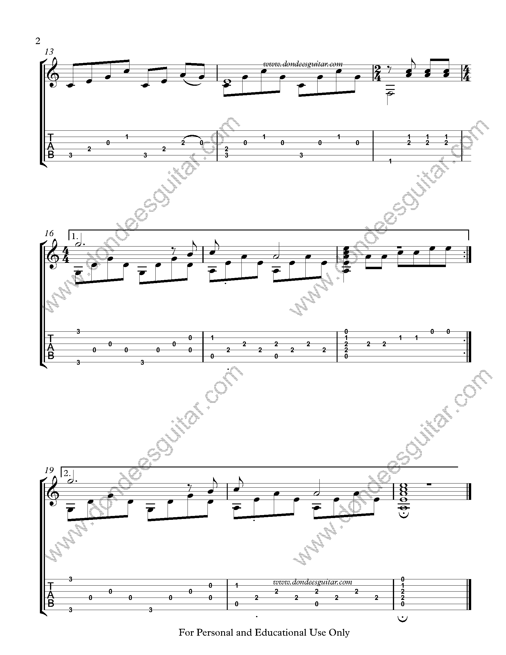 The Sound Of Silence Fingerstyle Tabs