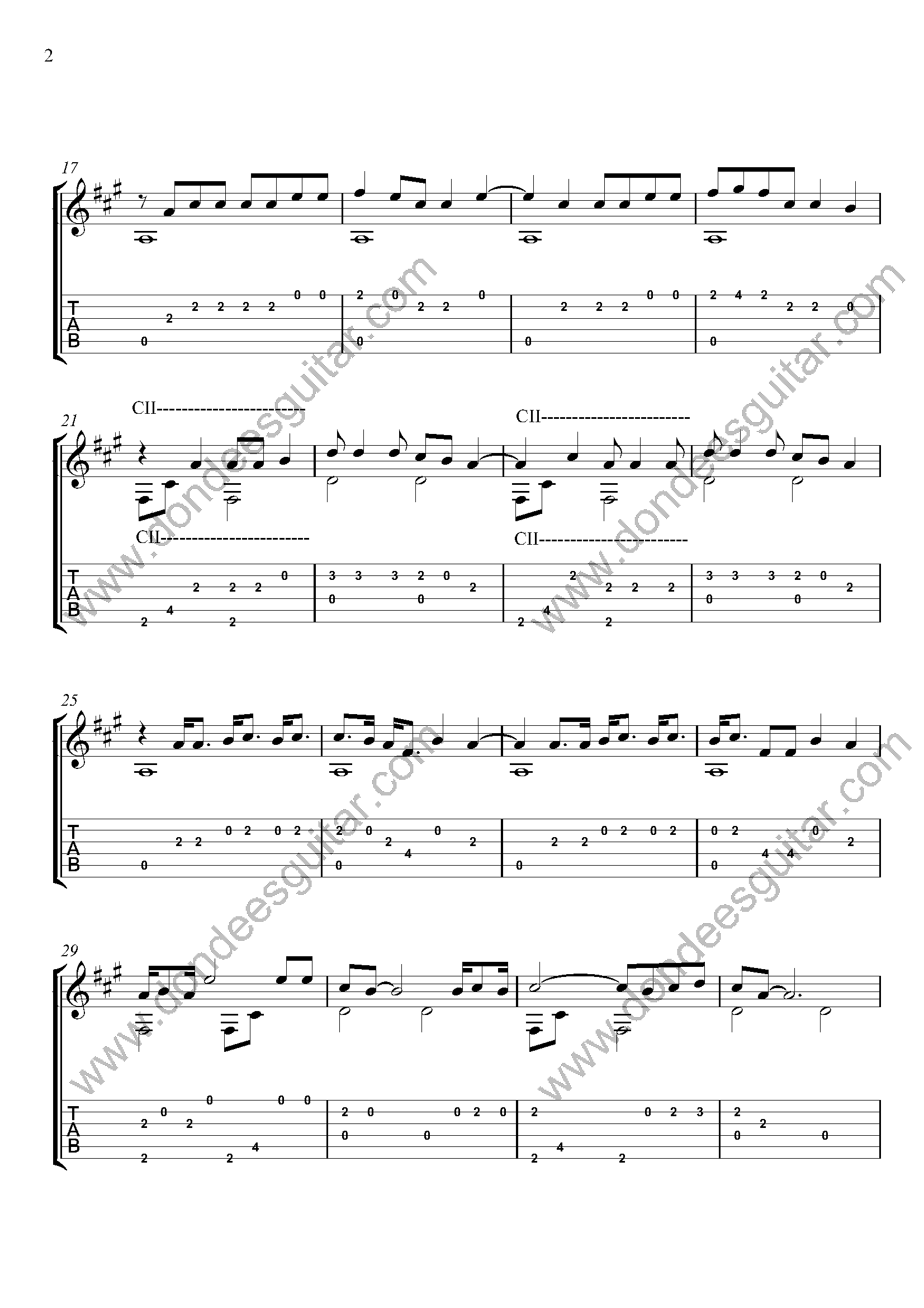 Intentions Fingerstyle Guitar Tabs