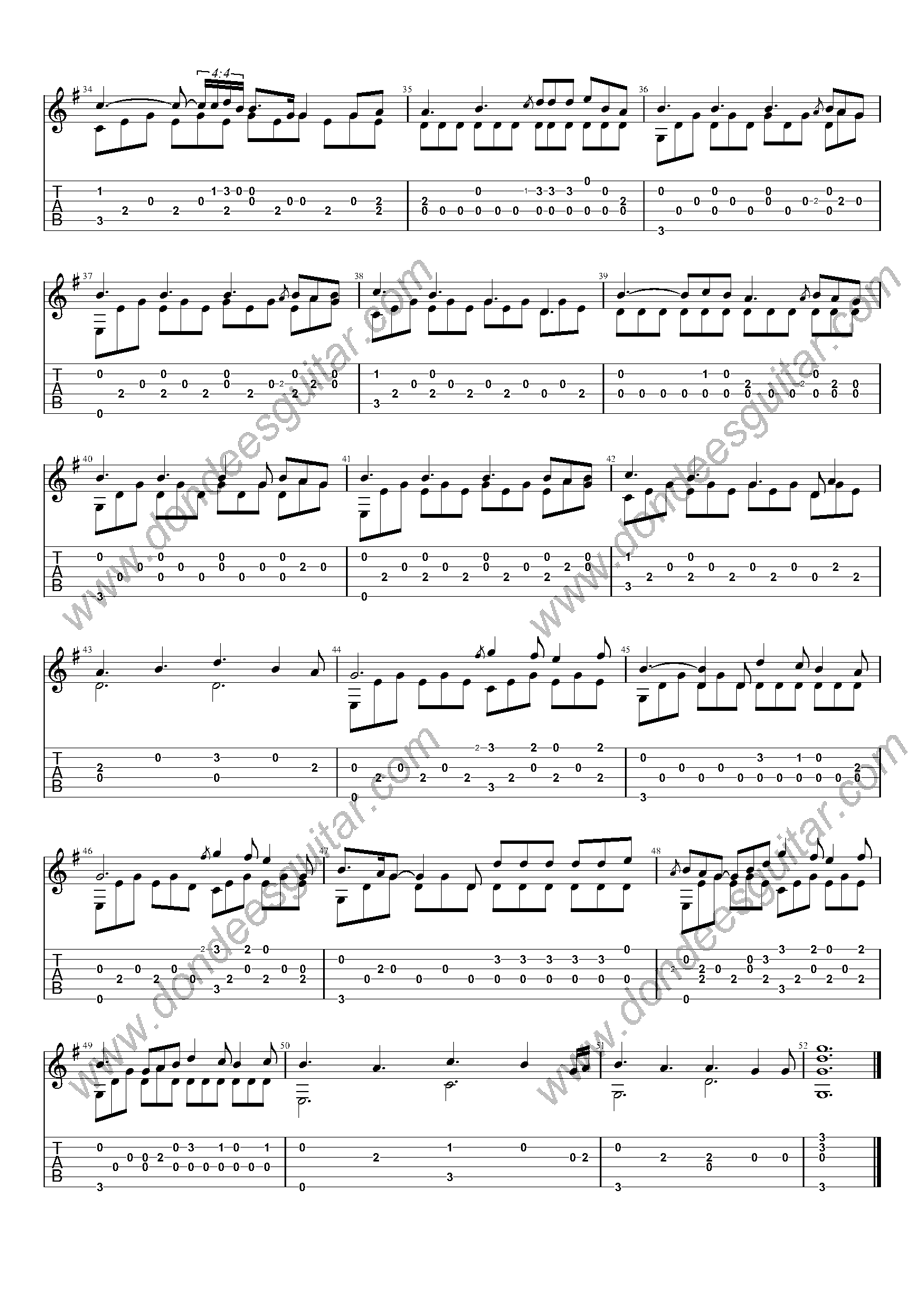 Perfect Fingerstyle Tabs