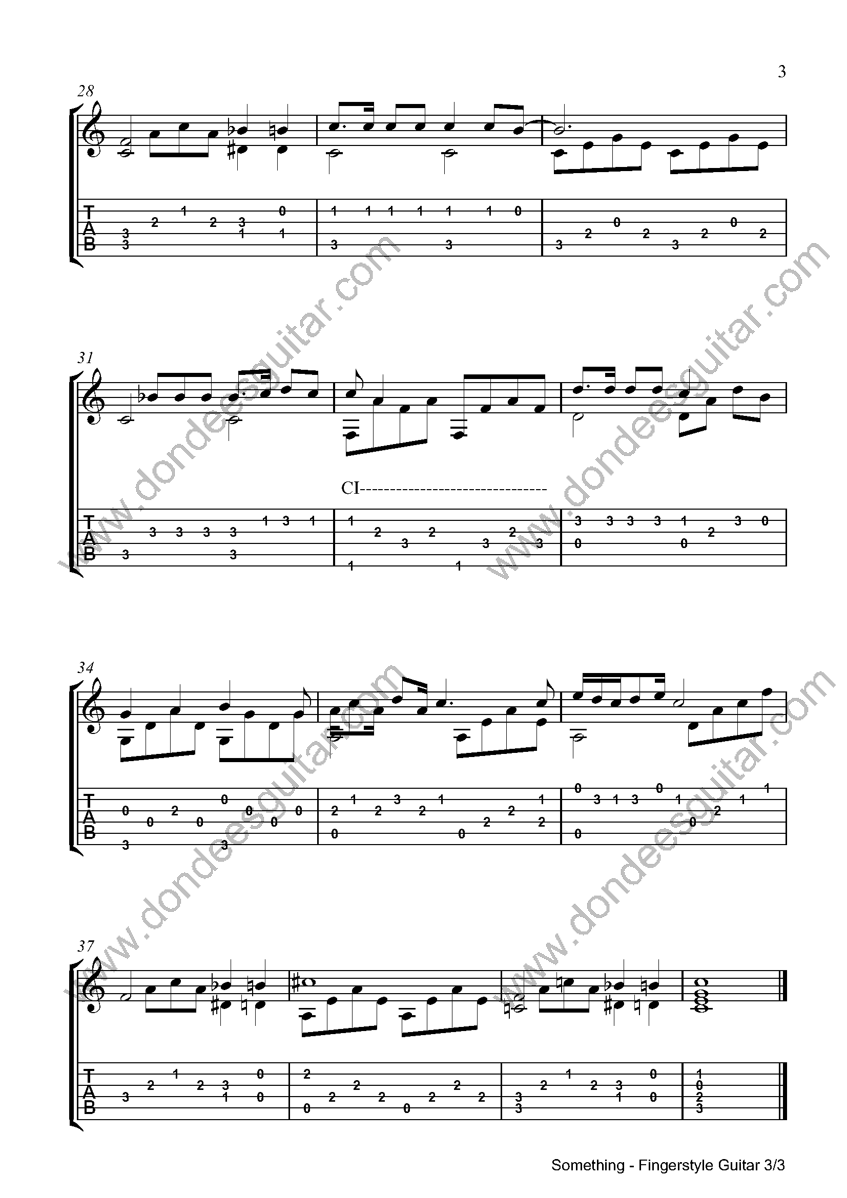 Something Fingerstyle Tabs