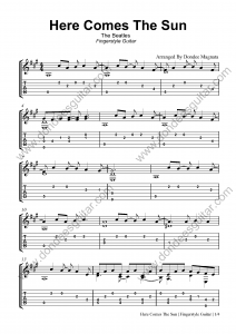 Here Comes The Sun Fingerstyle Tabs